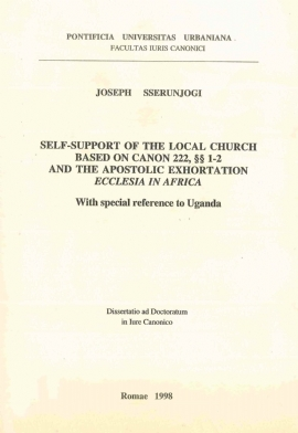 Self-support of the Local Church bases on Canon 222, §§1-2 and the Apostolic Exhortation 'Ecclesia in Africa'