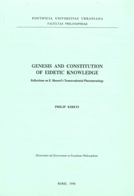 Genesis and Constitution of Eidetic Knowledge